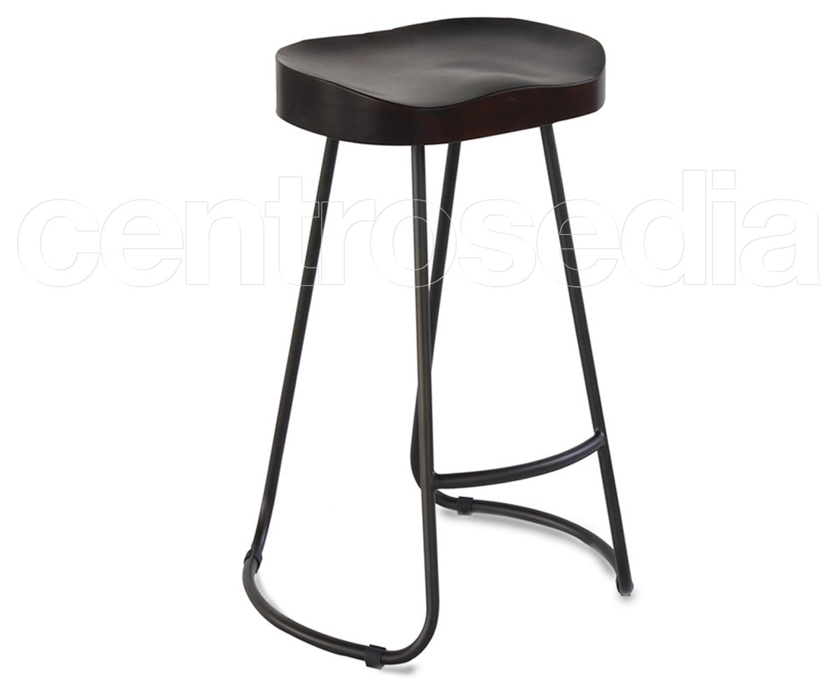 Sgabello alto da bar in legno trio sgabello alto wiener gtv design