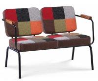 """""""Twist"""" Vintage Fabric Sofa"""