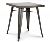 """""""Ares"""" Old Style Metal Square Table"""