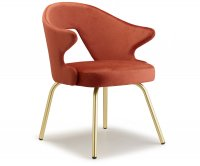 """You"" Brass Armchair Metal Frame Scab Design"