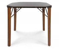 """Logan"" Old Style Wooden Table 80x80 - Iron Top"